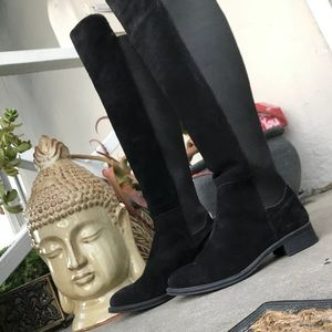 SEYCHELLES Black Suede 'Abroad' Round Toe Boot